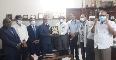 ময়মনসিংহে সিবিএমসিএইচবি পরিদর্শন করেছেন নেপালের রাষ্ট্রদূত ডা. বংশীধর মিশ্র